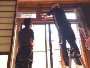 内窓を7カ所に設置しました